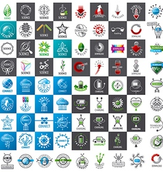 Large set of logos new technologies vector
