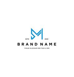 Letter sm logo design vector