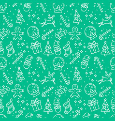 light green christmas seamless pattern vector image