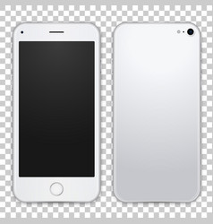 light grey smartphone template front and black vector image