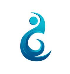 logo element water aqua design vector image
