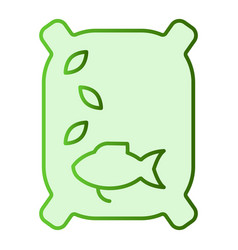 lure flat icon fish feed green icons in trendy vector image