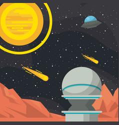 Mars space adventure vector