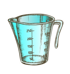 Measuring cup for baking and cooking color vector