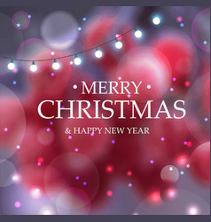 merry christmas christmas decoration blur the vector image vector image