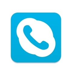 modern blue phone icon vector image