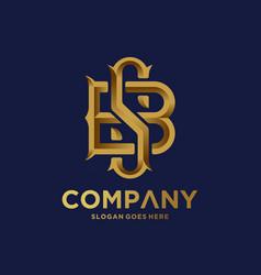 Monogram logo with golden letter vector
