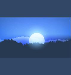 moonlight tree landscape vector image