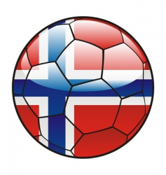 Norway flag on soccer ball vector