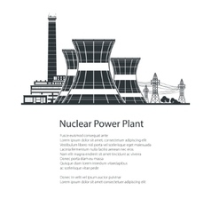 Nuclear Power Plant Poster Brochure Design vector