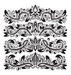 Ornate decorative ornaments design ornamental vector