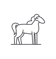 pony line icon concept pony linear vector image