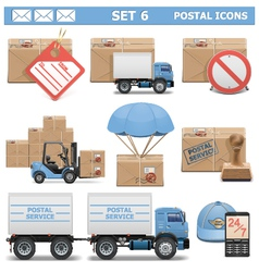 Postal Icons Set 6 vector