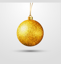 realistic new years ball with a golden texture vector image