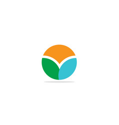 round abstract colored eco logo vector image