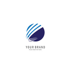 Round finance symbol logo vector