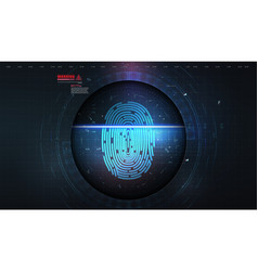 security system concept with fingerprint scanning vector image