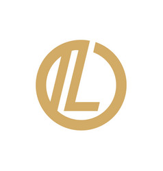 sign of the letter l vector image