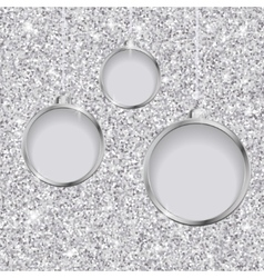 Silver glitter christmas background vector