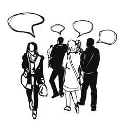 sketch of people vector image