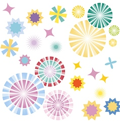 Sparkles colourful symbols vector image