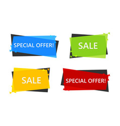 special offer sale banner vector image