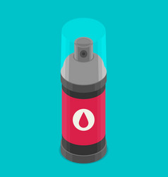 Spray paint can flat icon vector