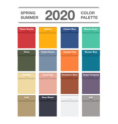 spring and summer 2020 colors palette on white vector image