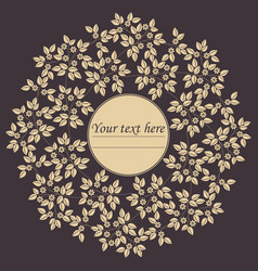 stylish circle frame with floral bouquet vector image