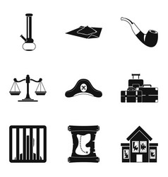 Temptation icons set simple style vector