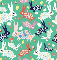 texture colorful bunnies vector image