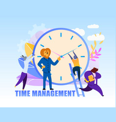 time management flat cartoon vector image