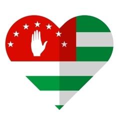 Abkhazia flat heart flag vector image