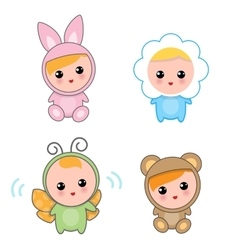 Babies Of Animal Suits vector image vector image