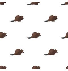 Canadian beaver canada single icon in cartoon vector