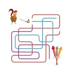 Christmas games maze vector image vector image