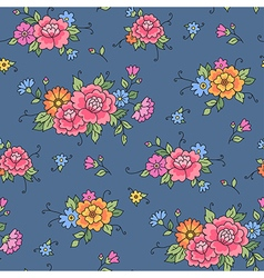 floral pattern grey vector image vector image
