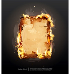 glowing ancient parchment vector image vector image