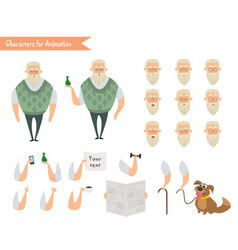 grandfather character for scenes vector image vector image