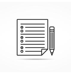Survey Line Icon vector image vector image