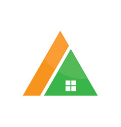 triangle roof house logo image vector image