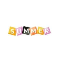 Word concept on color geometric shapes - summer vector image
