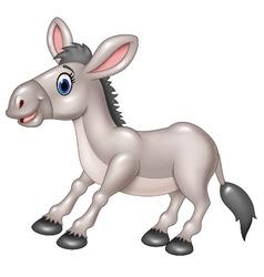 Cartoon happy donkey isolated vector image