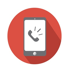 phone call in Smartphone flat icon vector image vector image