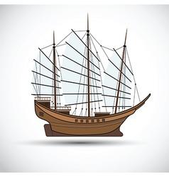 Sailing ship3 vector image