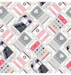 Seamless Pattern Smartphone vector image