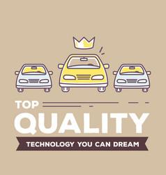 creative retro color of three cars vector image vector image