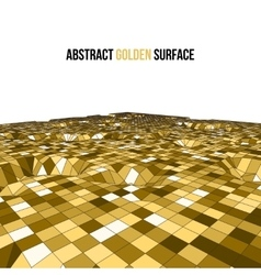 Golden 3d mosaic wireframe texture mapping vector image