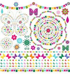 Set colorful design elements vector image