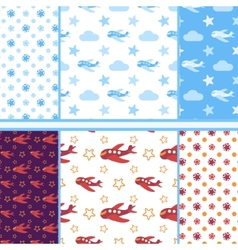 set of seamless baby patterns vector image vector image